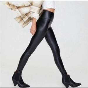 Wilfred Free daria faux leather pants by aritzia
